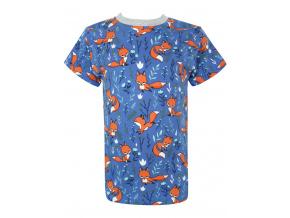 Dětské modré triko lišky