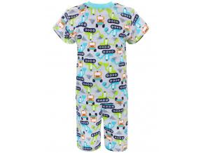 Dětské pyžamo s krátkým rukávem bagry