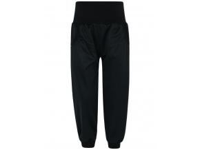 Dětské černé softshellové kalhoty