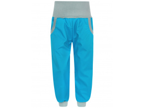 Letní tyrkysové softshellové kalhoty