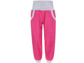 Dětské letní růžové softshellové kalhoty