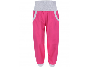 Dětské růžové softshellové kalhoty