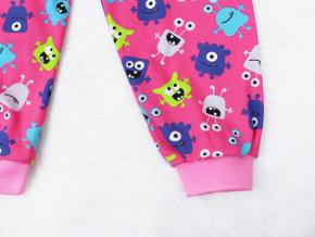 Dětské pyžamo příšerky na růžové