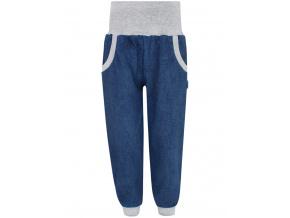 Dětské tepláky s vysokým pasem jeans
