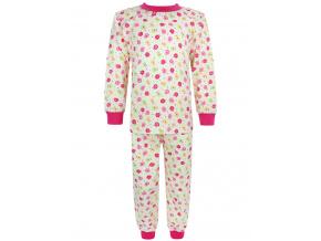 Dětské dívčí pyžamo kytičky