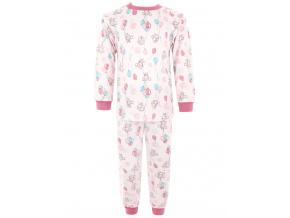 Dětská růžové pyžamo myšky a balonky