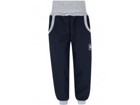 Dětské tmavě modré softshellové kalhoty