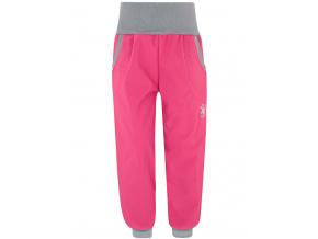 Dětské tmavě růžové softshellové kalhoty