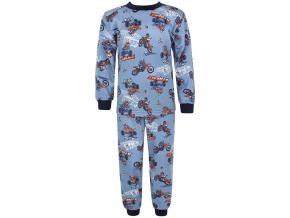 Dětské pyžamo motokros na šedé