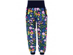 Dětské softshellové kalhoty kytičky