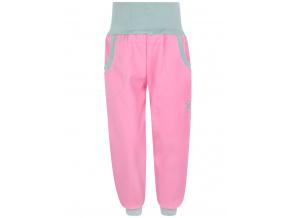 Dětské světle růžové softshellové kalhoty
