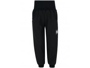 Dětské zimní černé softshellové kalhoty