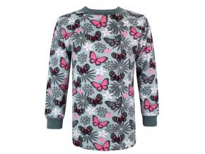 Dětské tričko s dlouhým rukávem motýlci