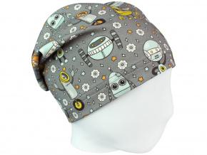 Dětská čepice roboti