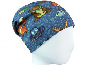Dětská čepice lesní zvířátka