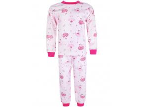 Dětské růžové pyžamo baletky