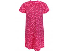 Dětská růžová noční košilka srdíčka