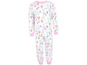 Dětské dívčí pyžamo zvířátka safari kopie