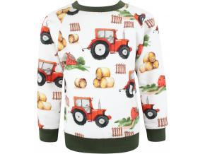 Dětská mikina traktory