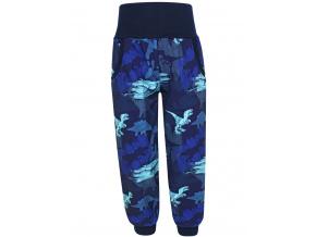 Dětské softshellové kalhoty dinosauři modré kopie