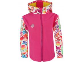 Dětská softshellová bunda ptáčci na růžové kopie