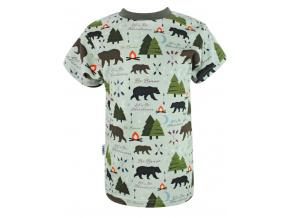 Dívčí triko s krátkým rukávem les