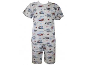 Dětské letní pyžamo s letadly