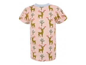 Dětské triko s krátkým rukávem srnky na meruňkové
