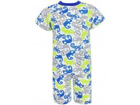 Dětské pyžamo s krátkým rukávem chameleoni modro zelené kopie