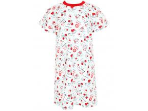 Dětská noční košilka s krátkým rukávem Berušky kopie