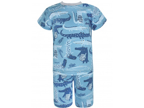 Dětské pyžamo s krátkým rukávem krokodýli
