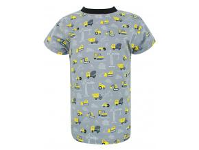 Dětské triko s krátkým rukávem bagry šedé
