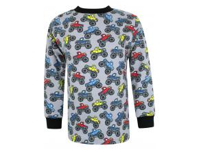 Dětské triko s dlouhým rukávem monster truck