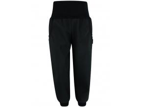 Dětské černé letní softshellové kalhoty