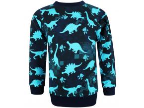 Dětská mikina modří dinosauři