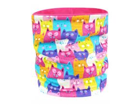 Dětský jarní podzimní nákrčník barevné kočičky