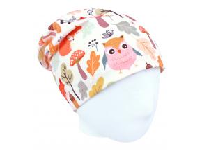 Dětská podzimní čepice podzimní zvířátka