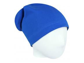 Dětská královsky modrá jarní podzimní čepice
