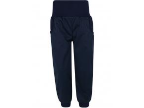 Dětské pružné tmavě modré softshellové kalhoty