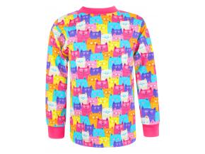 Dětské triko s dlohým rukávem barevné kočičky