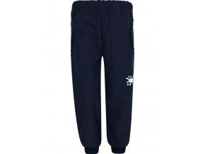 Dětské tmavě modré softshellové kalhoty s gumou v pase