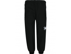 Dětské černé softshellové kalhoty s .gumou v pase
