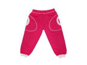 Zimní růžové dětské tepláky