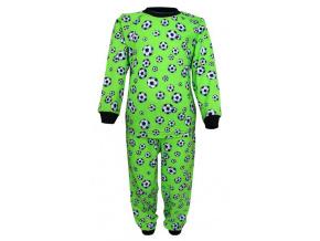 Dětské pyžamo Zelený fotbal