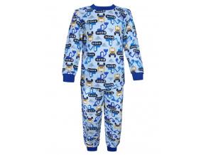 Dětské pyžamo Bagry na stavbě