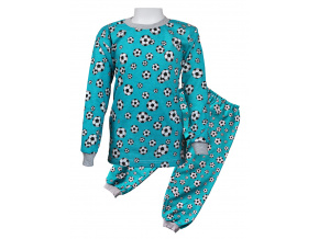 Tmavě modré fotbalové pyžamo