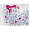 Dětské letní pyžamo pejsci a kočičky detail