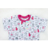 Dětské letní pyžamo pejsci a kočičky detail krku