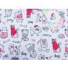 Dětské letní pyžamo pejsci a kočičky detail látky