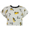 Dětské tričko bagry detail krku compressor